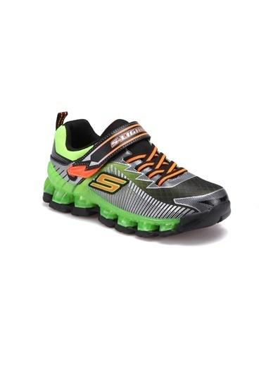 Skechers Flashpod- Scoria Büyük Erkek Çocuk Siyah Yeşil Spor Ayakkabı 90293L BKLM Siyah